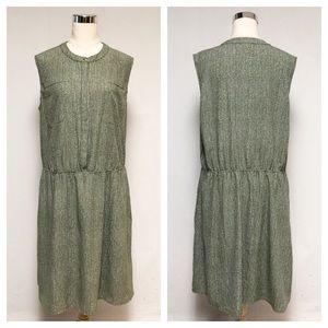 ➕ Merona Olive Green Print Sleeveless Dress